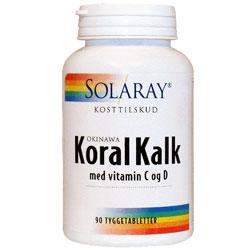 Image of Koral Kalk med C- og D-Vitamin (90 Tyggetabletter)