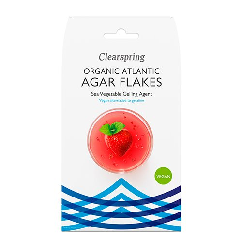 Billede af Clearspring Agar flager veg. geleringsmiddel af tang Ø (30 g)
