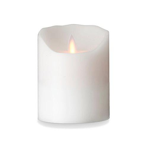 Image of LeveLys LED Stearinlys Hvid Frostet (Ø8 x 10cm)