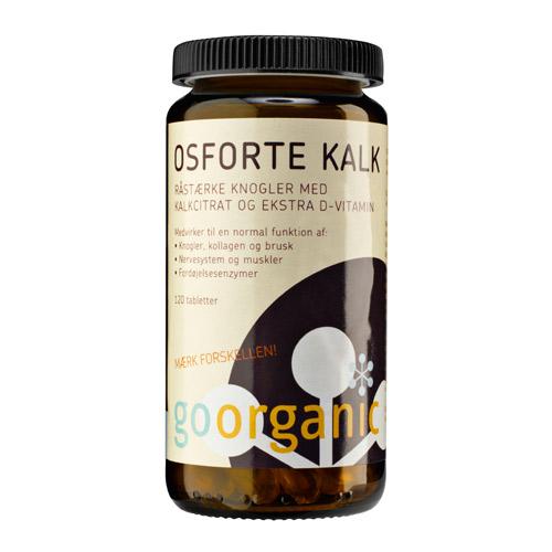 Image of GoOrganic Osforte Organisk Kalk med D-vitamin (120 tabletter)