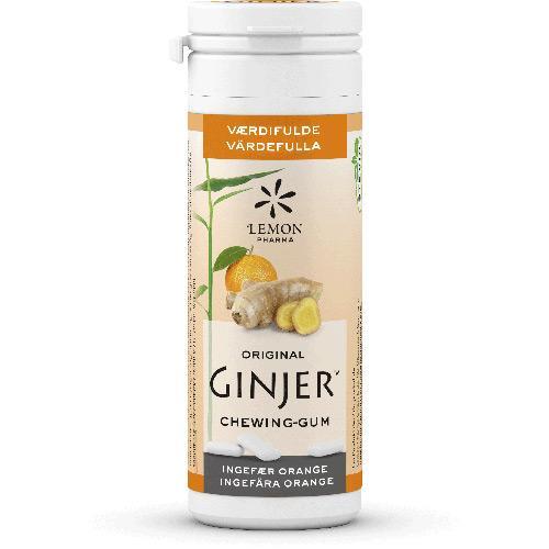 Image of Lemon Pharma Orginal Ginjer Tyggegummi Ø (30 gr)