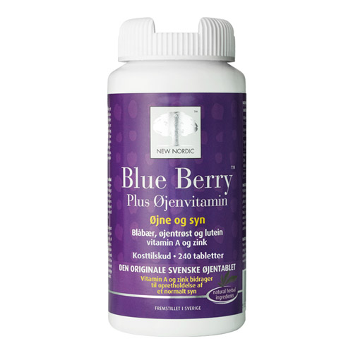 Image of New Nordic Blue Berry Plus Øjenvitamin (240 tabletter)