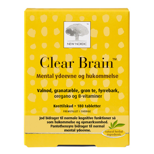 New Nordic Clear Brain (180 tabletter)