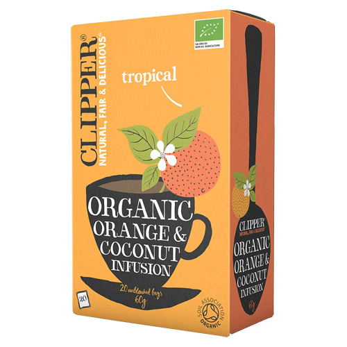 Image of Clipper Orange and Coconut Te Ø (20 breve)