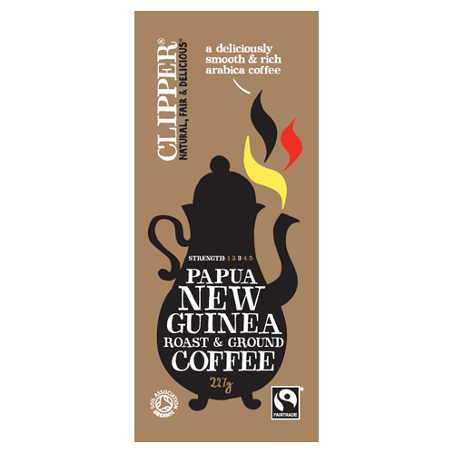 Image of Clipper New Guinea Fairtrade Kaffe Papua malet Ø (227g)