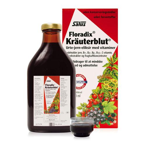 Image of Floradix Kräuterblut Urte-Jern Mikstur (500 ml)