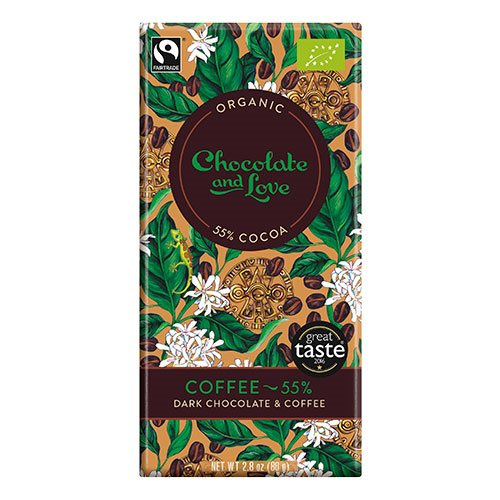 Image of Chocolate and Love Chokolade Coffee 55% Ø (80g)