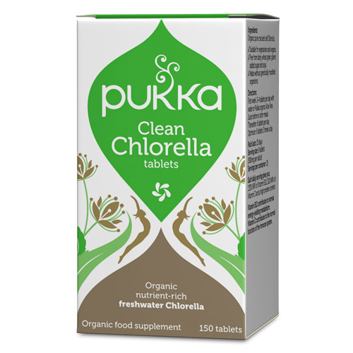 Image of Pukka Clean Chlorella 500 mg Ø (150 tabletter)