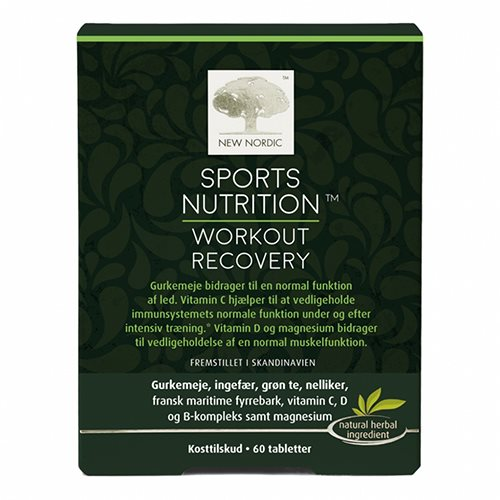Image of New Nordic Sports Nutrition Workout Recovery (60 tab.)