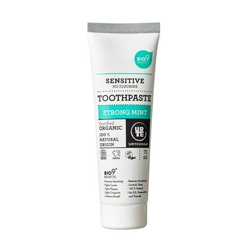 Urtekram Bio9 tandpasta strong mint (75 ml)