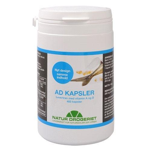 Image of Natur Drogeriet AD kapsler Levertran med Vitamin A & D (400 kapsler)