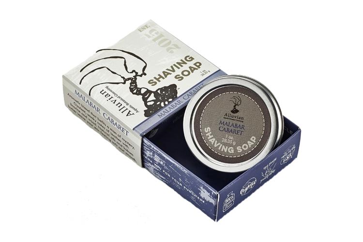 Alluvian Malabar Cabaret Shave Soap Tin Travel Size (30 ml)