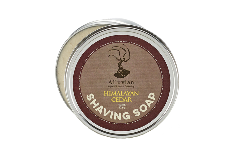 Image of Alluvian Himalayan Cedar Shave Soap Tin (122 g)