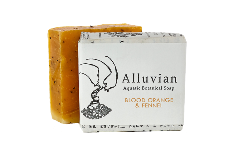 Image of Alluvian Blood Orange & Fennel Aquatic Botanical Bar Soap (99 g)