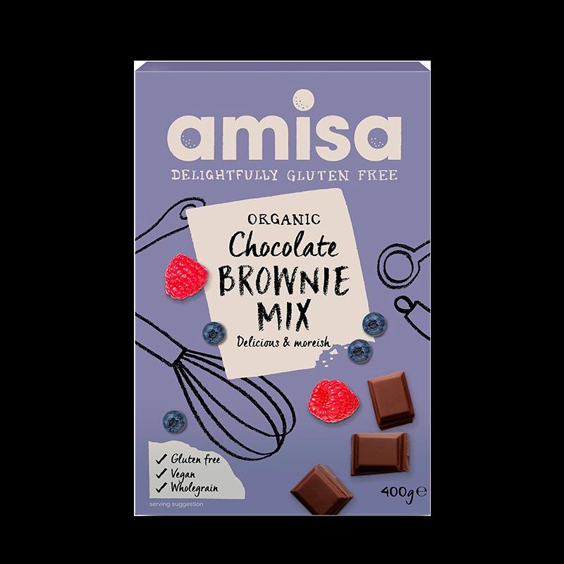 Organic Amisa Chokolade Brownie Mix Glutenfri Ø
