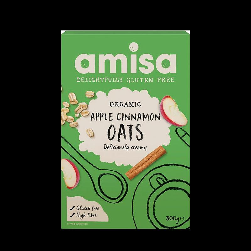 Organic Amisa Havreflager M. Æble & Kanel Glutenfri Ø