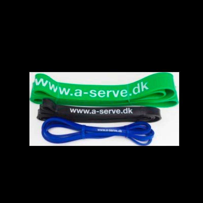 Aserve Power Fitness Elastik Medium Sort (1 stk)