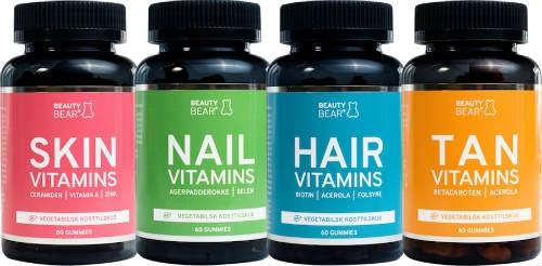 Image of Beauty Bear MIXED Vitamins (4 x 60 stk)