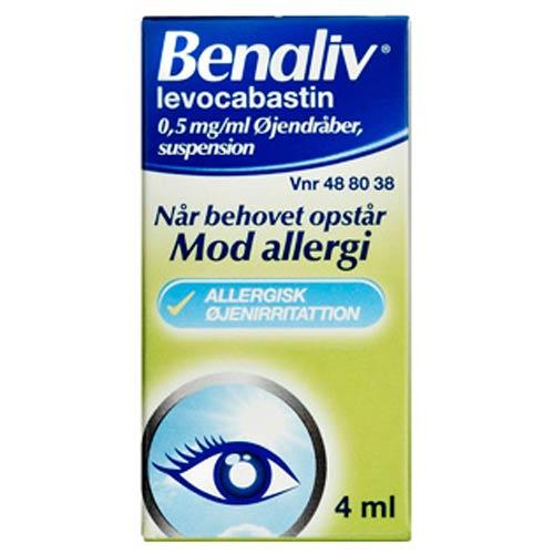 Image of Benaliv Øjendråber 0,5 mg (4 ml)