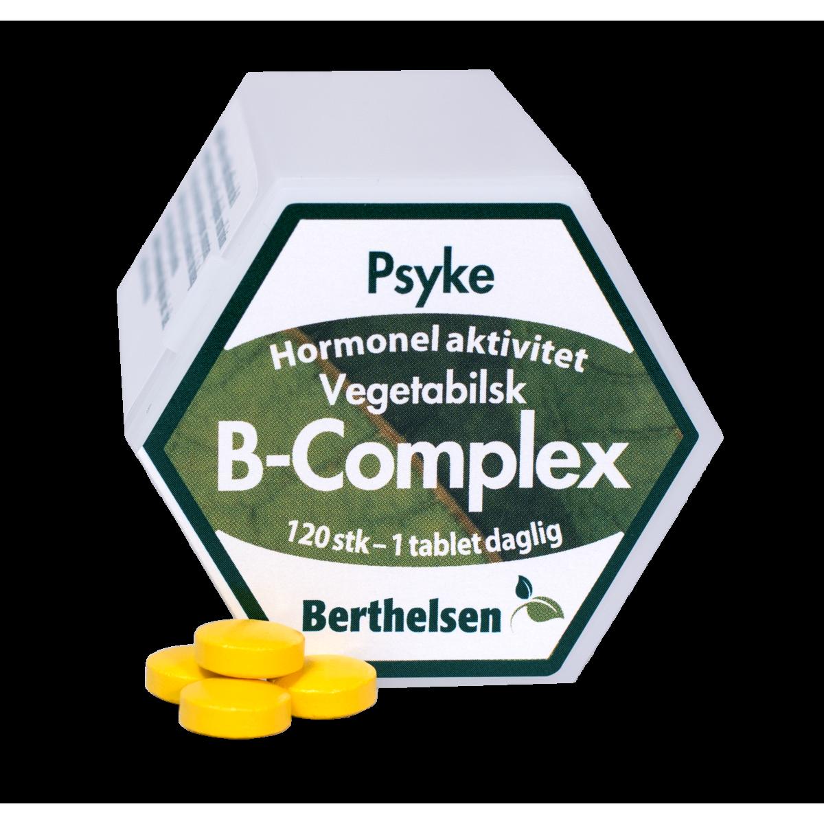 Image of Berthelsen Vegetabilsk B-Complex (120 tabletter)