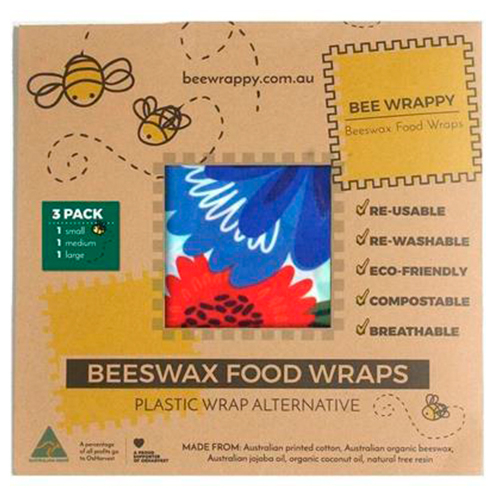 Bee Wrappy Beeswax Food Wraps (3 Pack) thumbnail