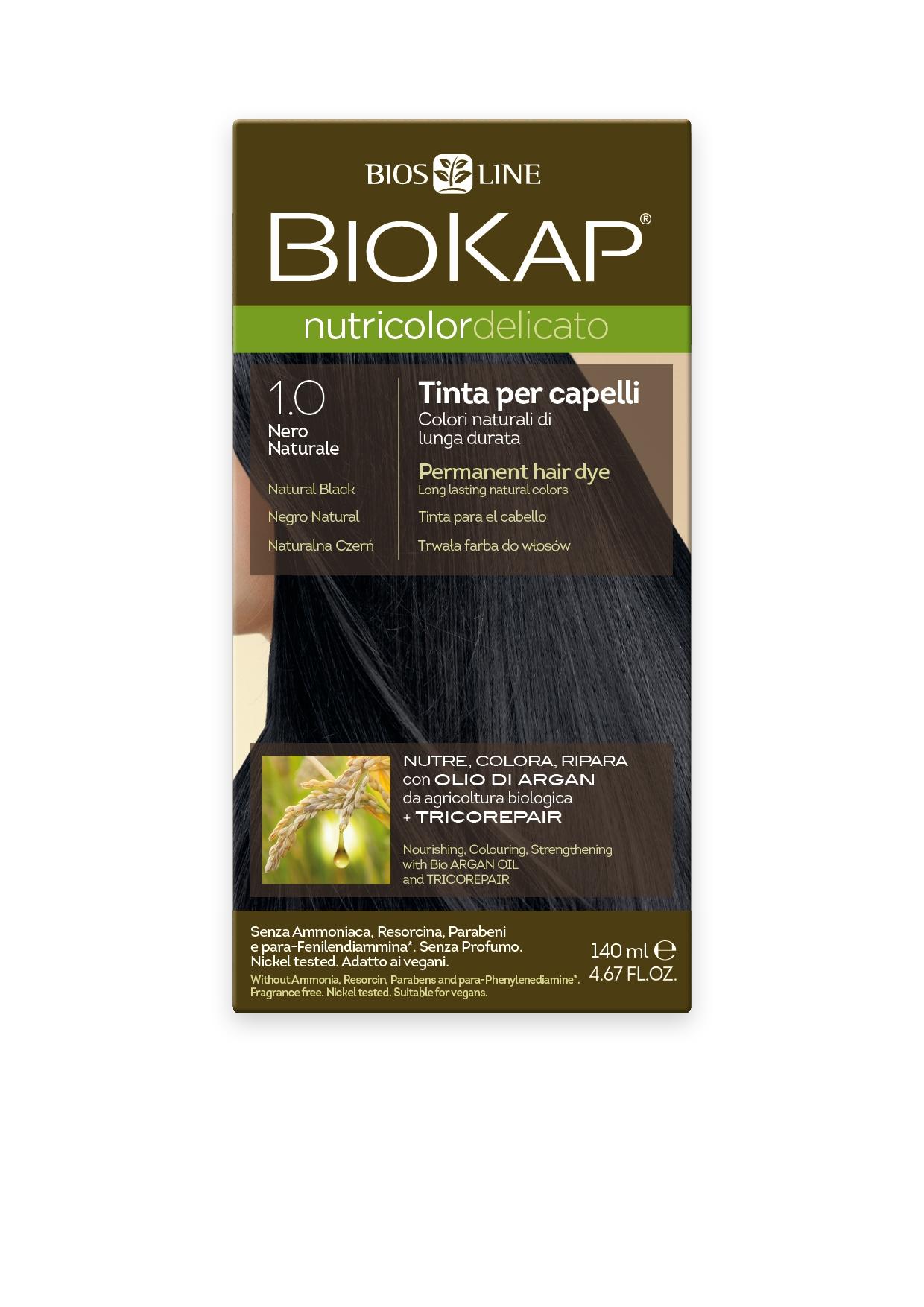 Image of BioKap 1.0 Nutricolor Natural Black DELICATO