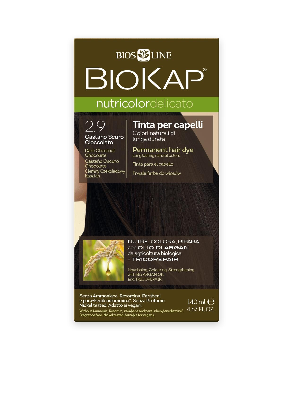 Image of BioKap 2.9 Nutricolor Dark Chestnut Chocolate DELICATO Dye