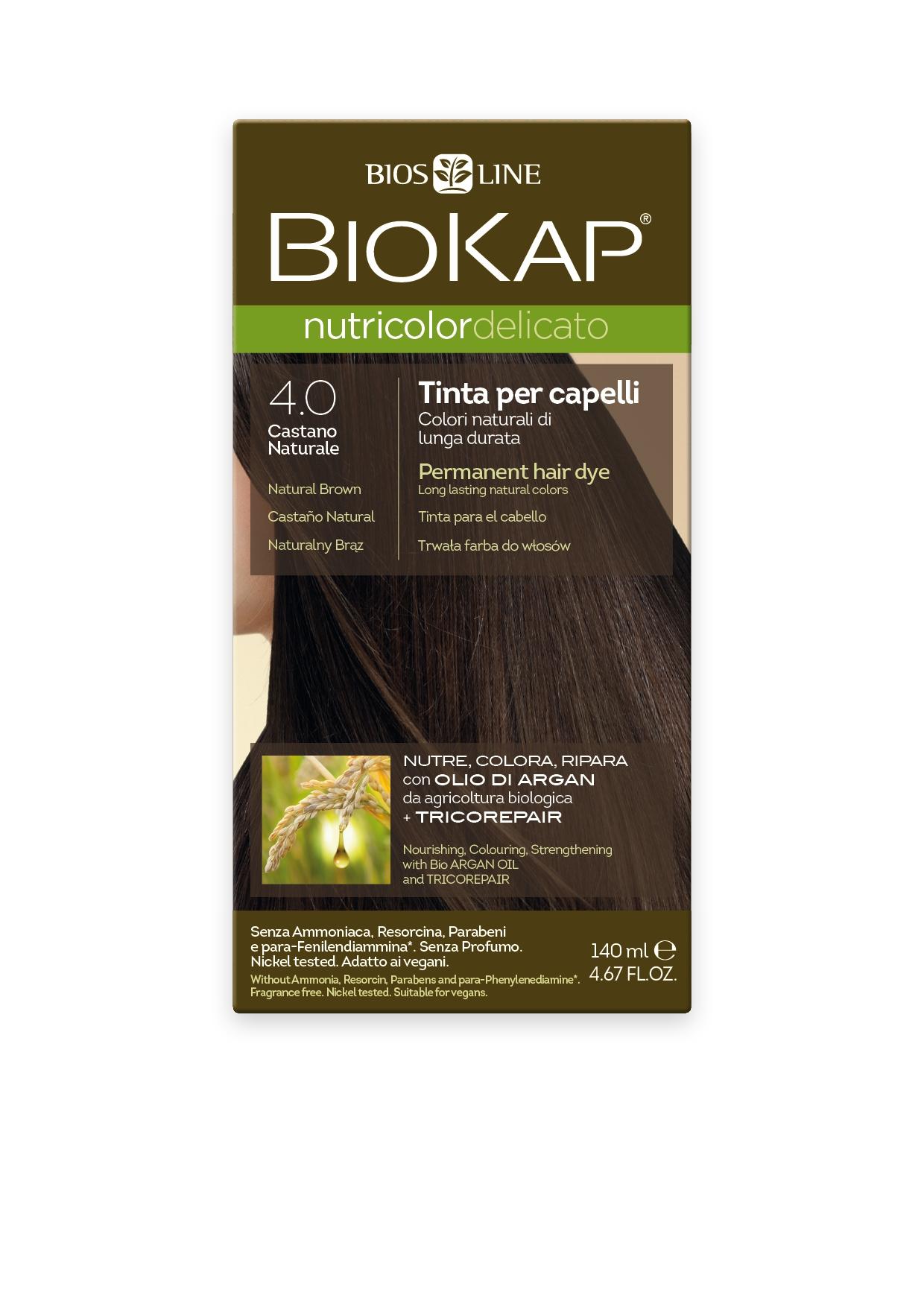 Image of BioKap 4.00 Nutricolor Natural Brown DELICATO Dye