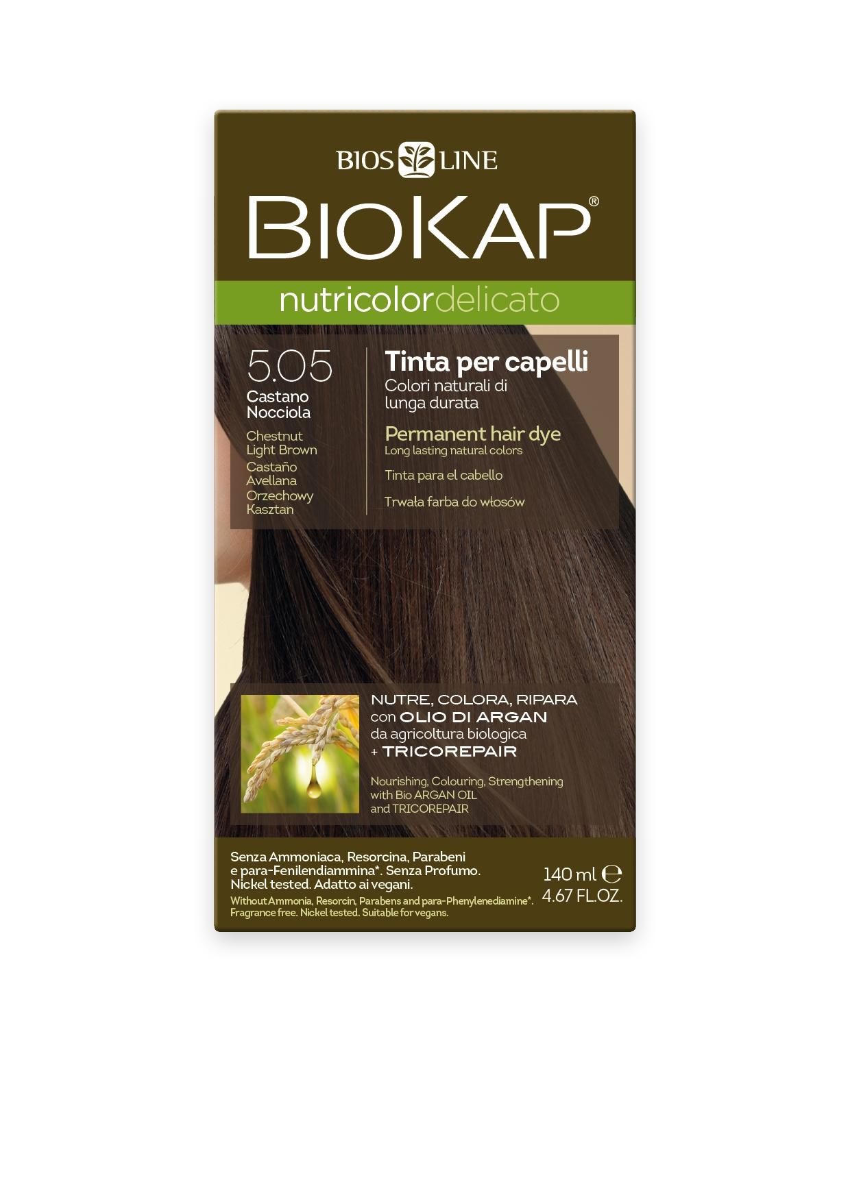 Image of BioKap 5.05 Nutricolor Chestnut Light Brown DELICATO Dye