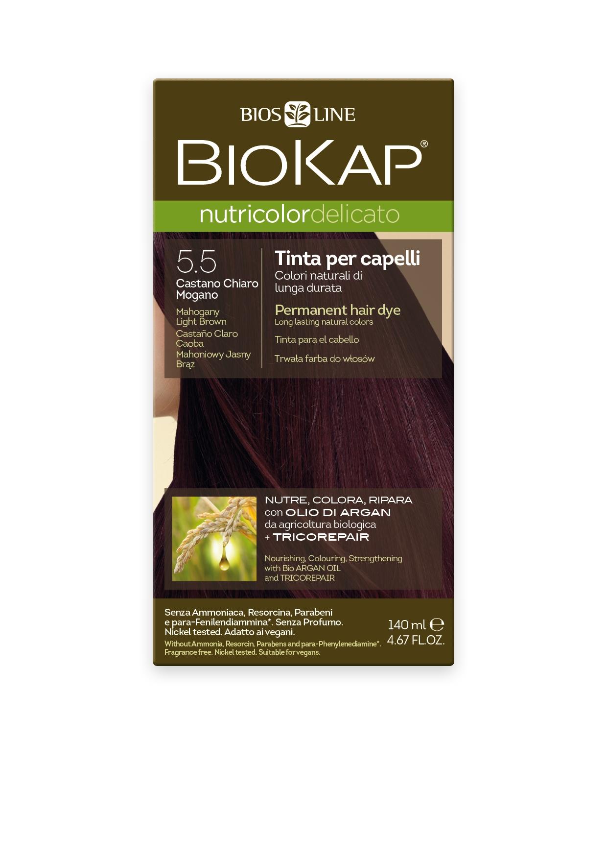 Image of BioKap 5.50 Nutricolor Mahogany Light Brown DELICATO Dye