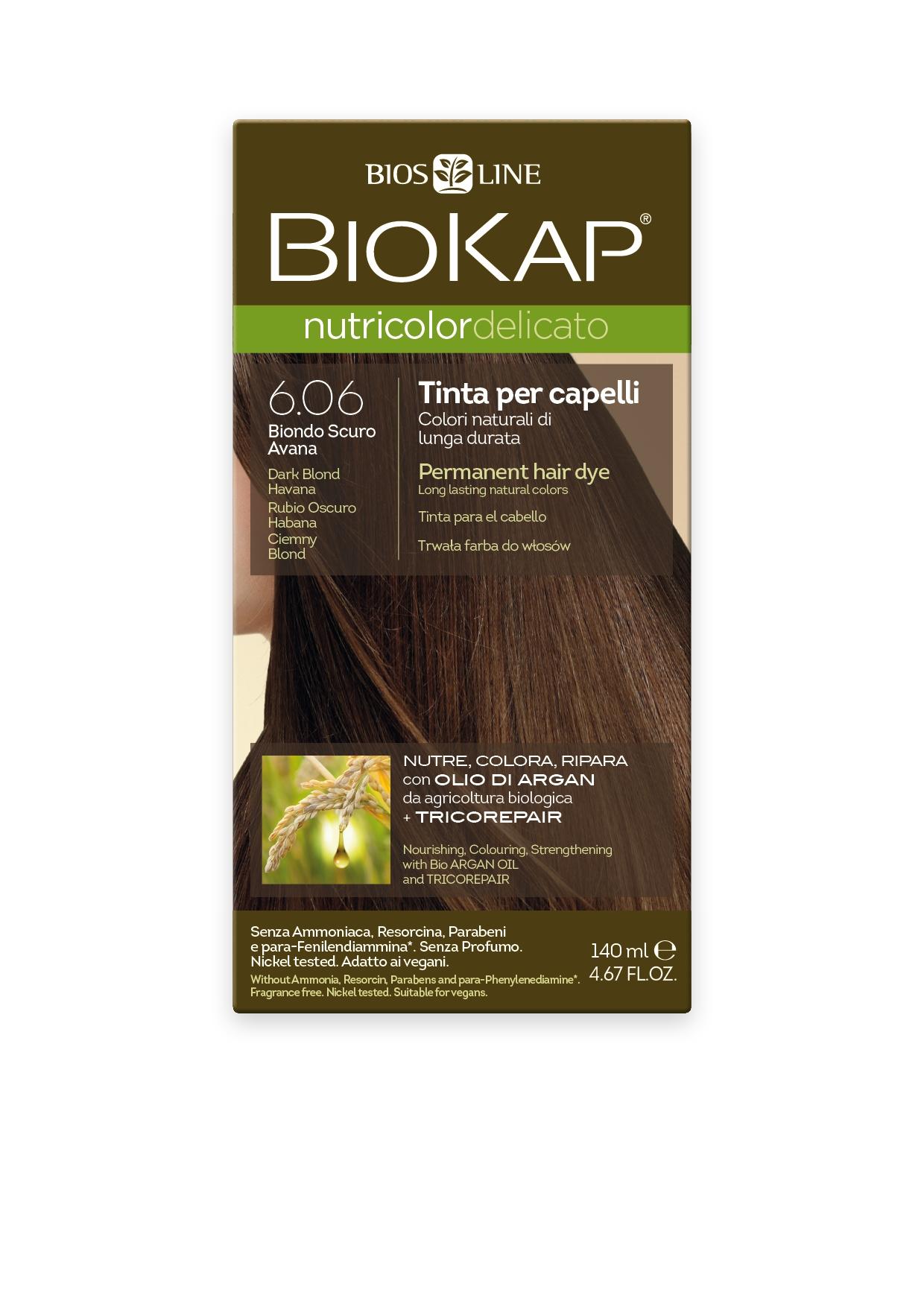Image of BioKap 6.06 Nutricolor Dark Blond Havana DELICATO Dye