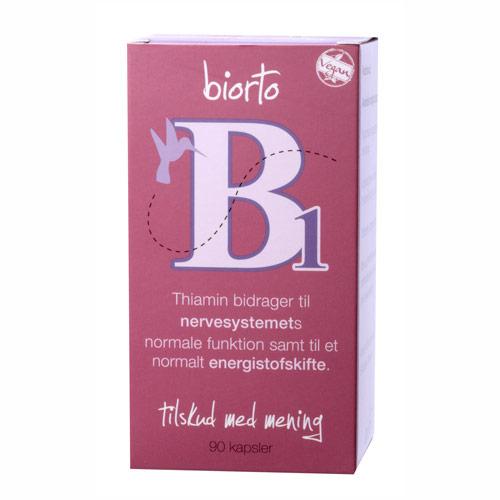 Image of Biorto Vitamin B1 30 mg (90 kapsler)