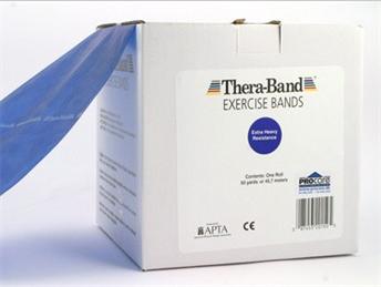 Image of Thera-Band elastik bånd 45m (Blå - Over middel)