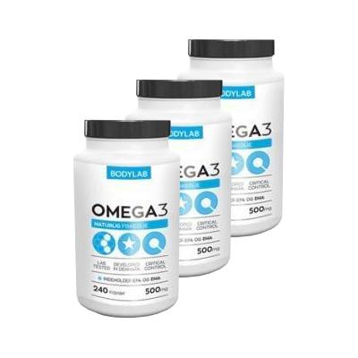 Image of Bodylab Omega-3 Fiskeolie (3 x 120 stk)