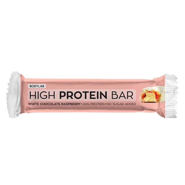 Image of Bodylab High Protein Bar - White Chocolate Raspberry (12 stk)