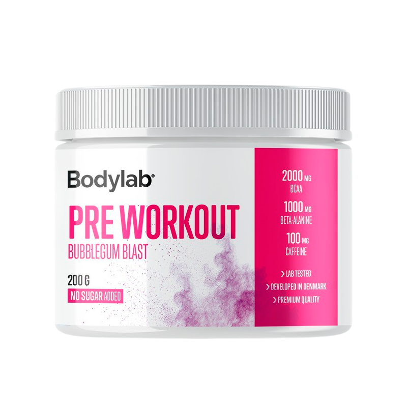 Billede af Bodylab Preworkout Bubblegum Blast (200 g)