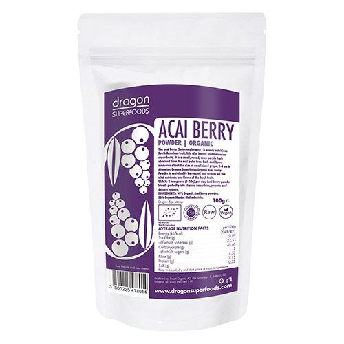 Image of Acai bær pulver Ø - Dragon Superfoods