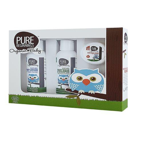 Image of Plan Organic Baby gift set m. Baby wash & shampoo, baby lotion, baby bum cream