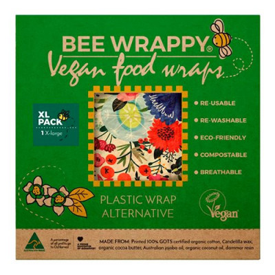 Bee Wrappy Vegan Food Wraps - XL (1 pk)