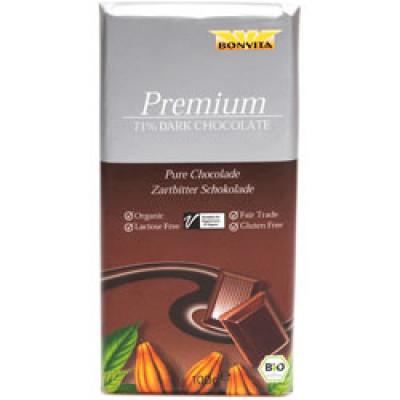 Bonvita Premium 71 % Dark Chocolate Fairtrade Ø (100 gr)