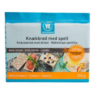 Urtekram Fuldkornsknækbrød M. Spelt Ø (250 gr)