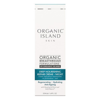 Organic Island Night cream repair deep nourishing