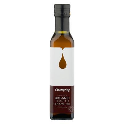 Clearspring Ristet Sesam Olie Ø (250 ml)