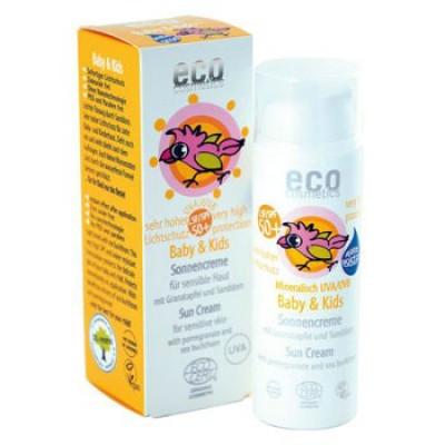 Eco Cosmetics Solcreme Baby SPF 50+ Granatæble& Havtorn (50 ml)
