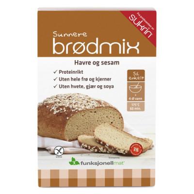 Funktionel Mad Glutenfri Brødmix med havre og sesam (220 gr)
