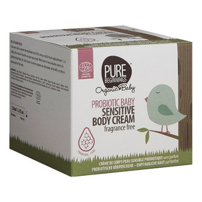 Pure Beginnings Baby sensitive body cream fragrance free vegansk pleje