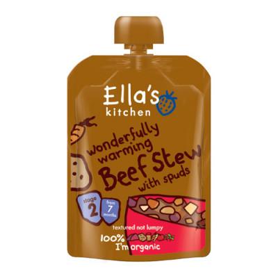 Ellas Kitchen Babymos Oksekød/Kartoffelgrøntsager Ø 7 Mdr (130 gr)