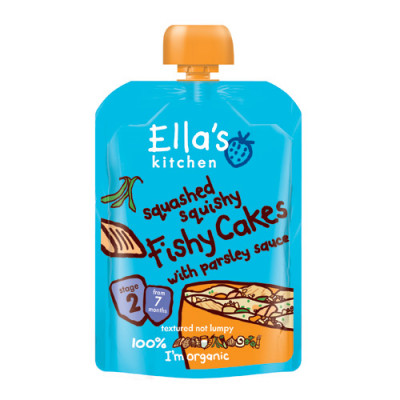 Ellas Kitchen Babymos Laks/Persille/Grøntsager Ø 7 Mdr (130 gr)