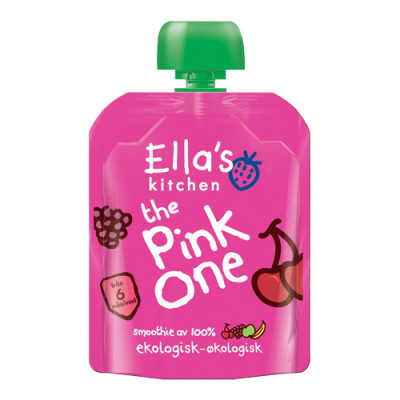 Ellas Kitchen Babymos Æble/Banan/Kirsebær/Hindbær Ø (90 gr)