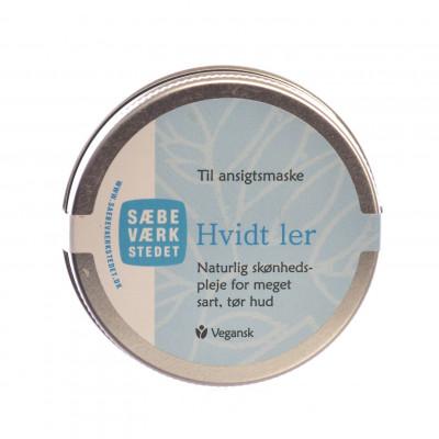 Sæbeværkstedet Ler Til Ansigtsmaske Hvidt (50 gr)
